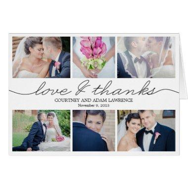 Lovely Writing Wedding Thank You  - White