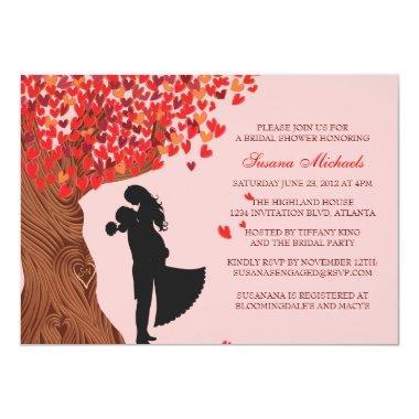 Loving Couple Initials Oak Tree Fall
