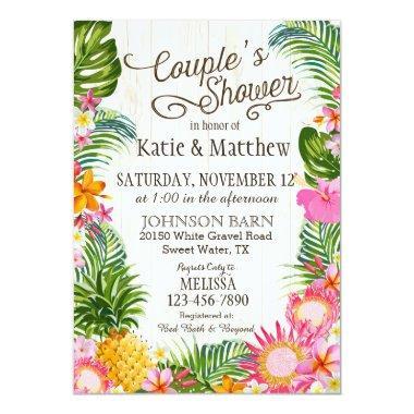 Luau Hawaiian Beach Rustic Couples Shower