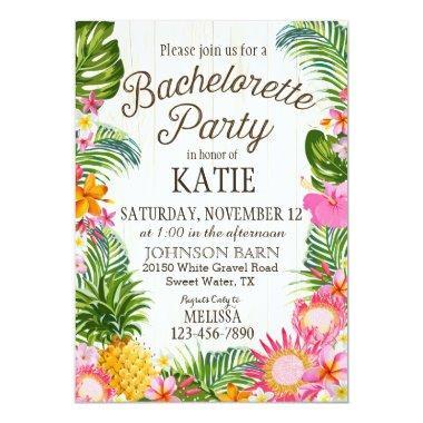 Luau Hawiian Beach Rustic Bachelorette Party