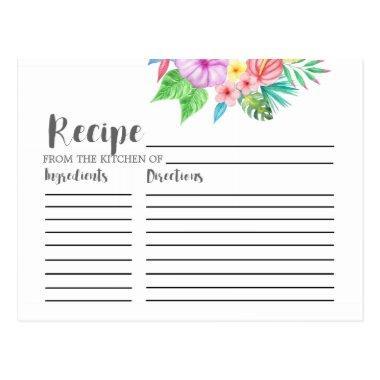Luau Tropical Flower  Recipe
