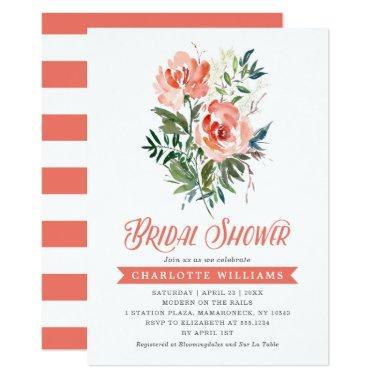 Lush Blooms Bridal Shower Invitations
