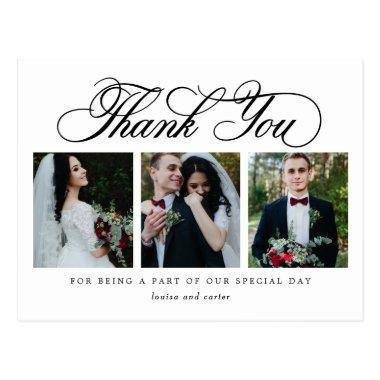 Luxurious Script EDITABLE COLOR Thank You PostInvitations