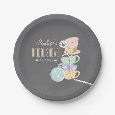Mad Hatter Bridal Shower Paper Plate