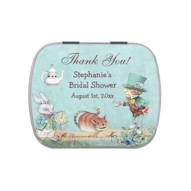 Mad Hatter  Thank You Favor Jelly Belly Tin