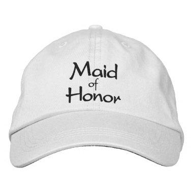 Maid of Honor Embroidered Cap