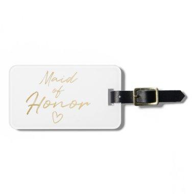 Maid of Honor - Gold faux foil Bag Tag