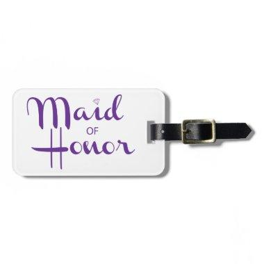 Maid of Honor Retro Script Bag Tag