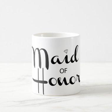 Maid of Honor Retro Script Coffee Mug