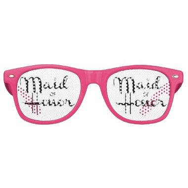 Maid of Honor Retro Script Retro Sunglasses