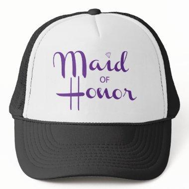 Maid of Honor Retro Script Trucker Hat