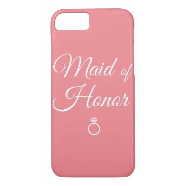 Maid of honor ring iPhone 8/7 case