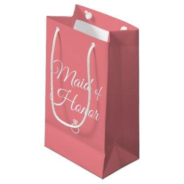 Maid of honor ring small gift bag