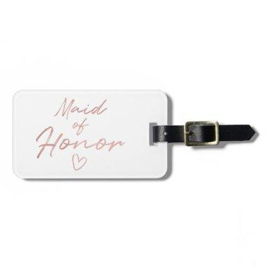 Maid of Honor - Rose Gold faux foil Luggage Tag