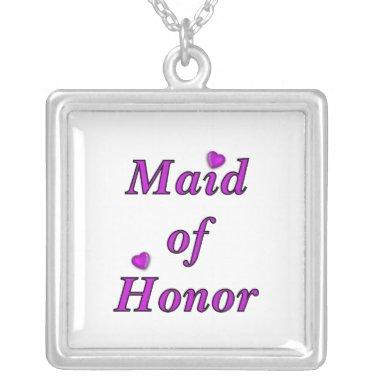Maid of Honor Simply Love Silver Plated Necklace