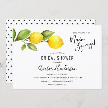 Main Squeeze Lemons Bridal Shower Invitations