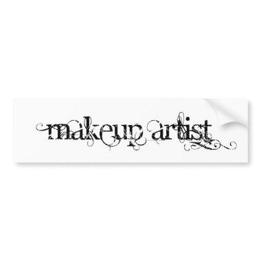 Makeup Artist Bumper Sticker
