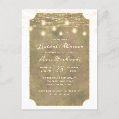 Maple Grove String Lights Future Mrs Bridal Shower Invitation PostInvitations