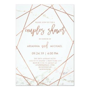 Marble and Rose Gold Geometric Couples Shower