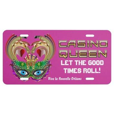 Mardi Gras Casino Queen Read About Design Below License Plate