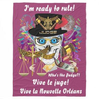 "Mardi Gras Judge Blanket 30""x40"" 50""x60"" 60""x80"""