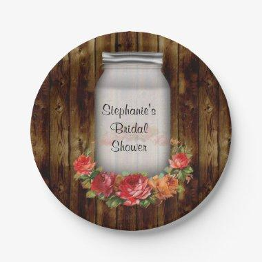 Mason Jar Flower Wreath  Paper Plate