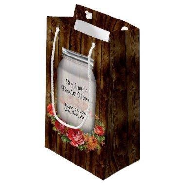 Mason Jar Flower Wreath  Small Gift Bag