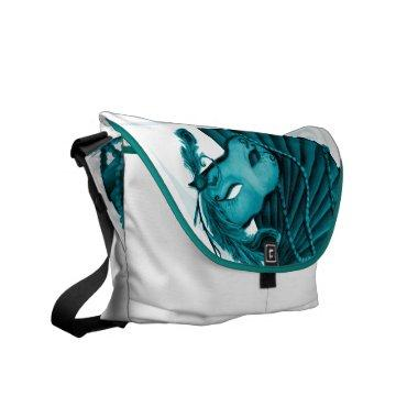 Masquerade in Teal Rickshaw Messenger Bag