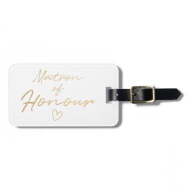 Matron of Honour - Gold faux foil Bag Tag
