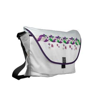May Day Ribbons & Flowers Rickshaw Messenger Bag