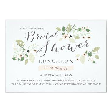 Meadow Blooms Bridal Shower Luncheon Invite