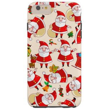 Merry Christmas Santa Red Tough iPhone 6 Plus Case
