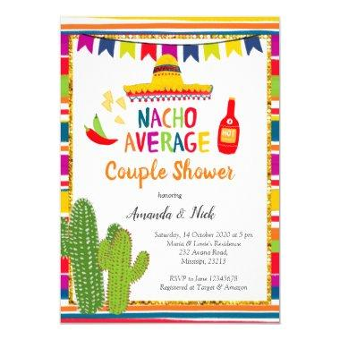 Mexican Colourful Nacho Average Couple Shower Invitations