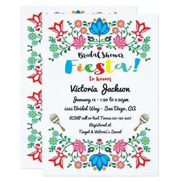 201 mexican fiesta bridal shower flower folkart invitations