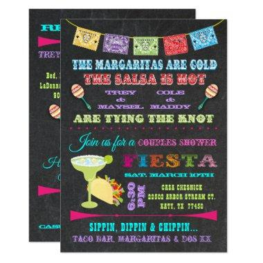 Mexican Fiesta Couples Bridal Shower Invitations