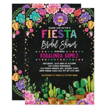 Mexican Floral  Fiesta Flowers Invite