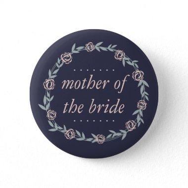Midnight Blue, Blush and Sage Mother of the Bride Button