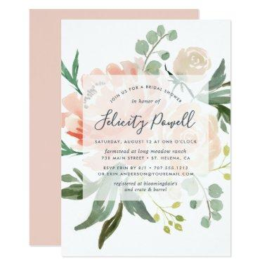 Midsummer Floral Bridal Shower Invitations