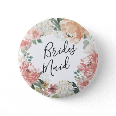 Midsummer Floral Bridesmaid Button