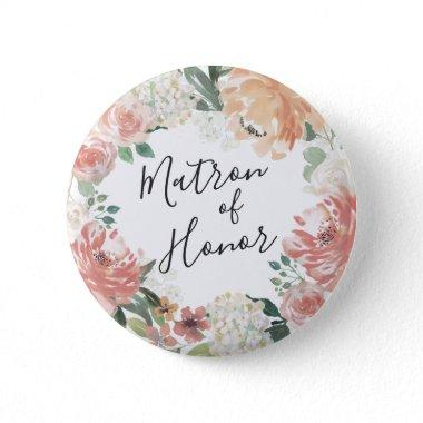 Midsummer Floral Matron of Honor Button