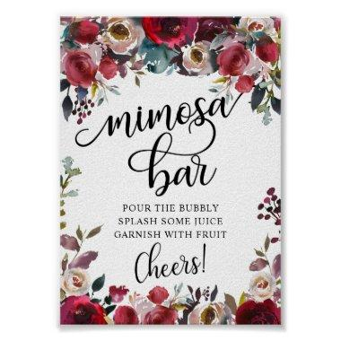 Mimosa Bar Bridal Shower Party Poster