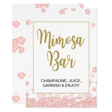 Mimosa Bar Sign   Pink and Gold