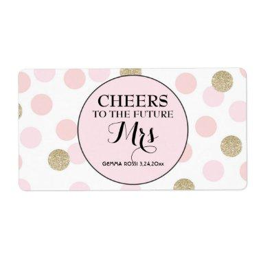 Mini Champagne Label Bridal Shower Favor