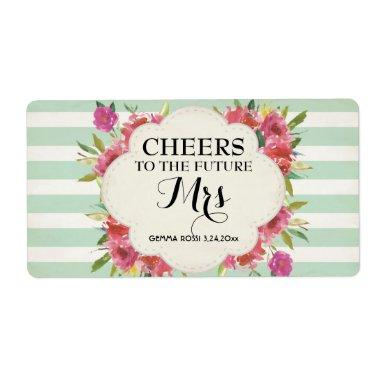 Mini Champagne Label Bridal Shower Favor - Green