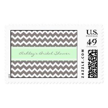 Mint Chevron  Wedding Stamps