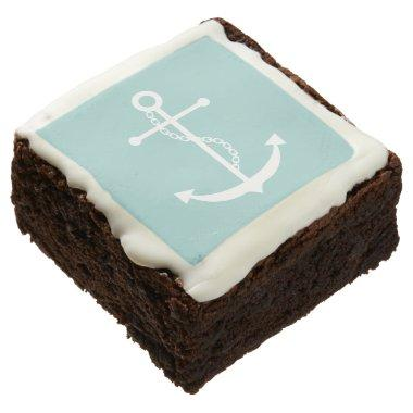 Mint Green Anchor Chocolate Brownie