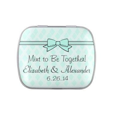 Mint To Be Wedding Favor After Dinner Mints Jelly Belly Tins