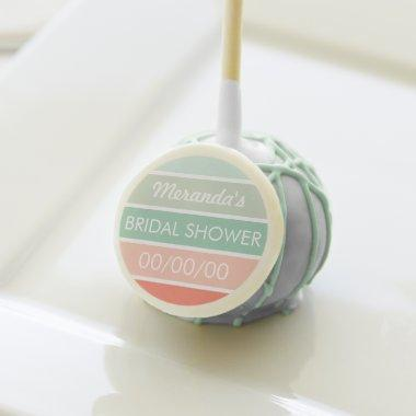 Mint to Coral  Cake Pops