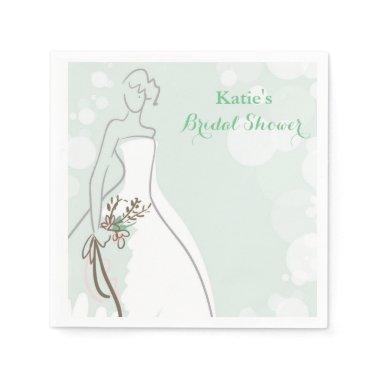 Minty Fresh Bride Paper Napkin
