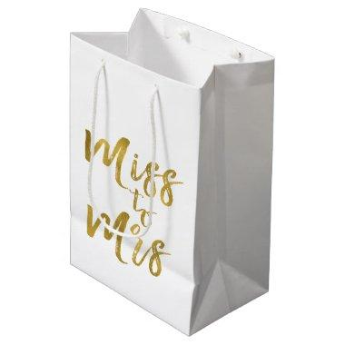 Miss to Mrs  Party Gold Foil Medium Gift Bag